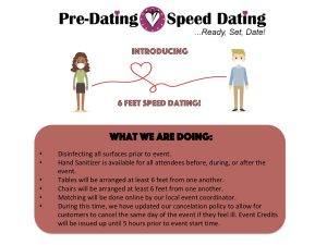 6 Feet Dating Speed Dating Event - COVID 19